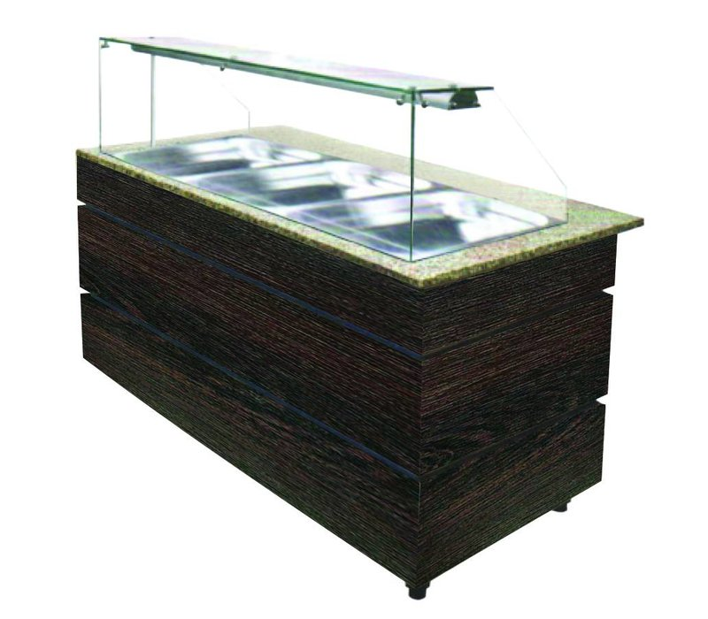 Combisteel Chilled Buffet Wenge 1250 | 3x GN1 / 1 | 553W | 1250x800x1355 (h) mm
