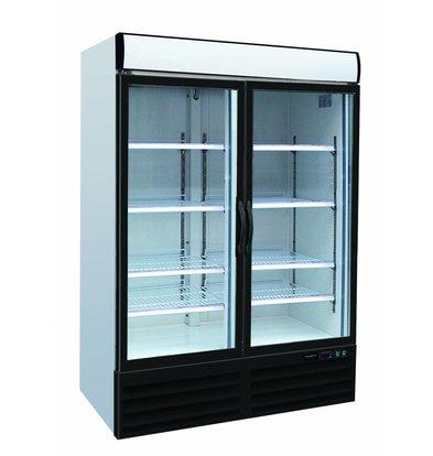 Combisteel Refrigerator 2 Glass Doors   1079 Liter   Forced, Refrigerant R134A   1200x690x2050 (h) mm