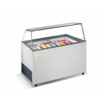 Combisteel Scoop ice cream display Tenerife, 10x 5 Liter | 260W | Refrigerant R290 | 1439x727x1229 (h) mm