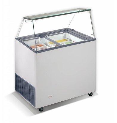 Combisteel Scoop ice cream display Corsica, 6x 5 Liter | 190W | Refrigerant R290 | 909x644x1229 (h) mm