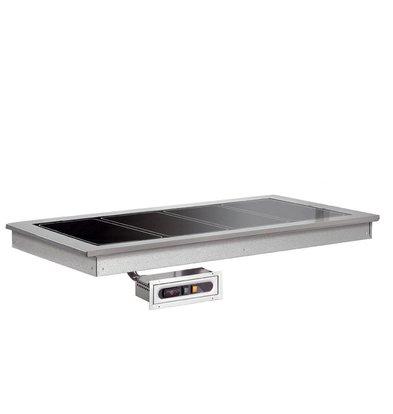 Combisteel Verwarmde Plaat 2/1 | Drop-In | 570W | 2x GN1/1 | 844x650x290(h)mm