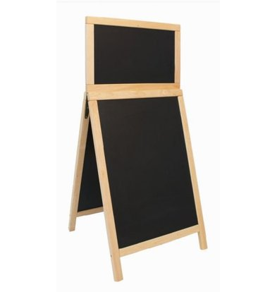 Securit Stoepbord Hout Nature - Duplo Top 55x120 - DELUXE