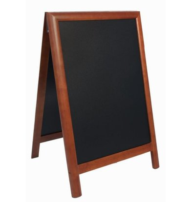 Securit Stoepbord 100% Hardwood Dark Brown - Duplo 55x85 - DELUXE