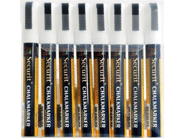Securit Securit Smalle Krijtstiften - 8 stuks - WIT - 2/6 mm