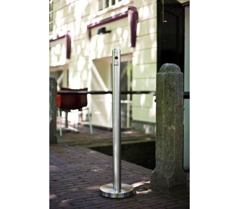 Securit Rookpaal RVS Staand   Eenvoudig te Legen   ∅260X(h)1000mm