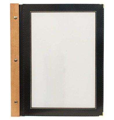 Securit Menu folder Black - Wood A4