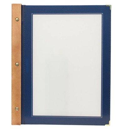 Securit Menu folder Blue - Wood A4