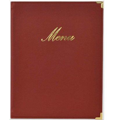 Securit Classic menu folder - Wine A4