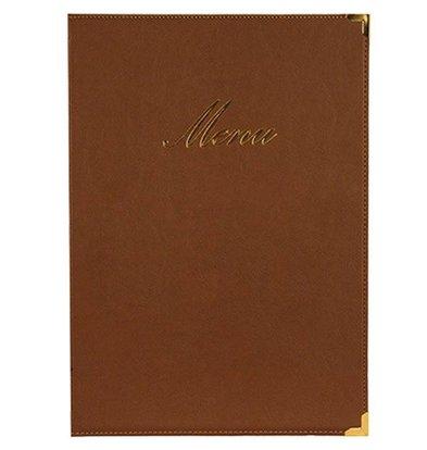 Securit Classic menu folder - brown A5