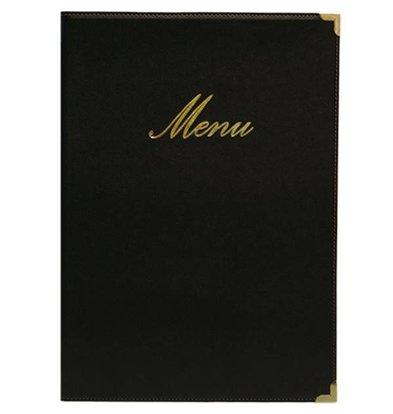 Securit Classic menu folder - Black A5