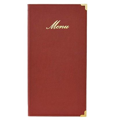 Securit Menumap Classic - Wijnrood - LONG