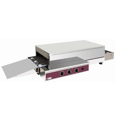 Diamond Doorloop Oven Elektrisch - 400v - 121x60x(H)26/32cm - 6000W