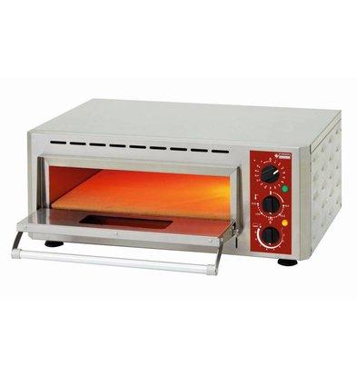 Diamond Pizza Oven Enkel Elektrisch   Pizza Ø430mm   3kW   670x580x(H)270mm
