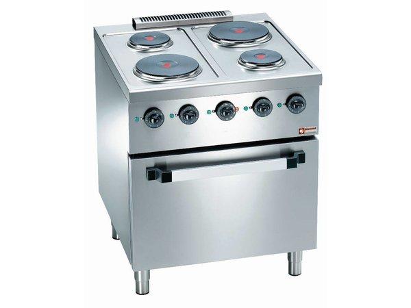 Diamond Kookfornuis 4 pits +  Elektrische Oven 2/1 GN   560x630x(H)295mm