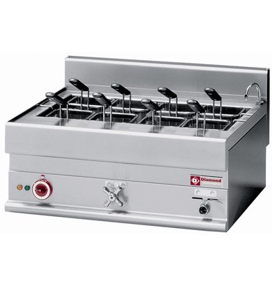 Diamond Pasta Cooker Electric stainless steel 40 Liter | Tabletop | 400V | 9kW | 700x650x (H) 280 / 380mm