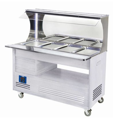 Diamond Bain Marie Wall Buffet 4 x 1/1 GN White