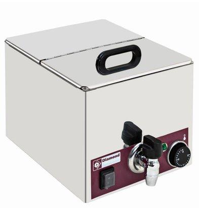 Diamond Voedingsverwarmer Elektrisch 1/2 GN | Aftapkranen | 264x275x(H)260mm