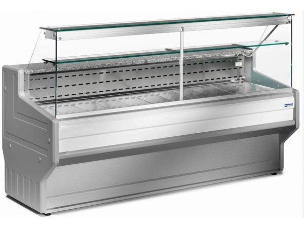 Diamond Vitrine Toonbank | Gekoeld +4° / +6° | Rechtruit | 1500x800x(H)1220mm