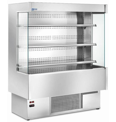 Diamond Wall unit cooled four levels 1000mm Fully Stainless Steel