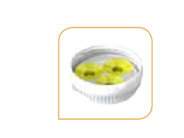 XXLselect Driegats medium membraam voor Portion pal geel