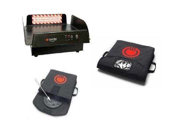 """CookTek CookTek Pizza Thermal Delivery System 18""""   Complete Set: Tas + schijf + Oplaadstation"""