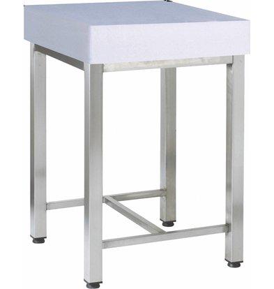 Diamond Plastic chopping block + Stainless Steel Frame - 500x700x900 (h) - 44 kg