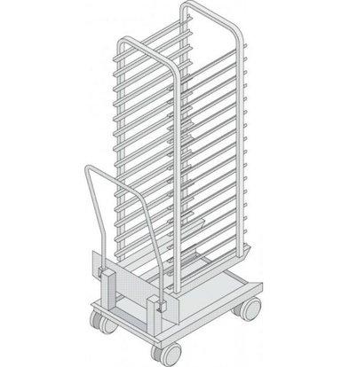 Rational Rational Mobile oven rack for model 201 | High quality stainless steel | Capacity: 17 Racks 74mm