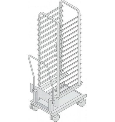 Rational Rational Mobile oven rack for model 202 | High quality stainless steel | Capacity: 15 Racks 84mm
