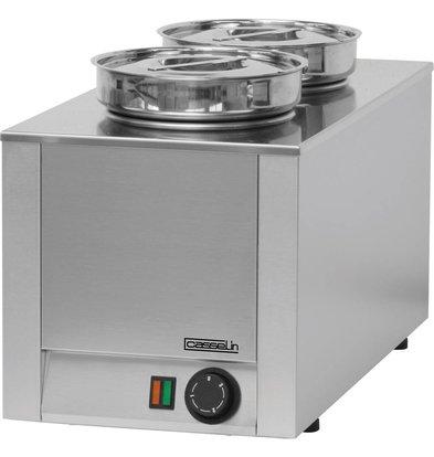 Casselin Hot Pot | Dubbel Bain Marie | RVS | 4,5 Liter | 300x600x(H)350mm