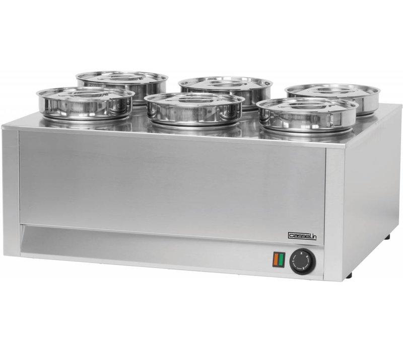 Casselin Hotpot  Bain-Marie  6x4,5 Liter | 1200W | 750x600x(H)350mm