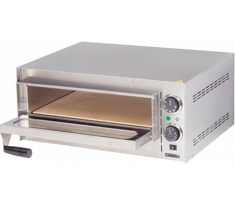 Casselin Pizza Oven | RVS | Dubbel Verwarmingssysteem | 2000W |550x430x(H)245mm