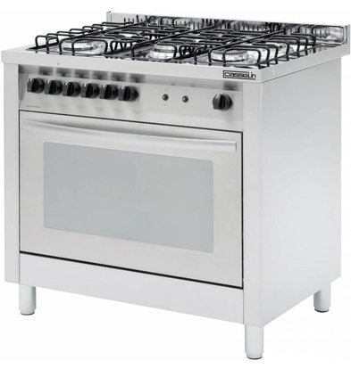 Casselin 5 Pits stove + electric oven 117 liters   900x600x (H) 850 / 900mm