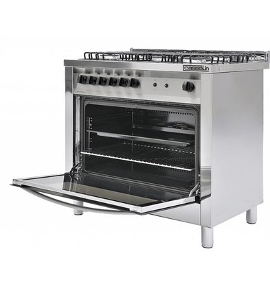 Casselin 5 Pits Gas stove + oven 117 Liter   900x600x (H) 850 / 900mm