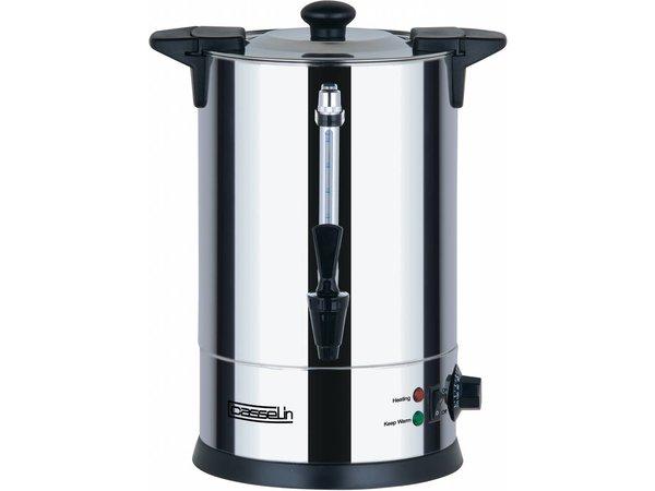 Casselin Heetwaterdispenser | dubbelwandig | Non-drip Tapkraan | Ø225mm | 6.8 Liter