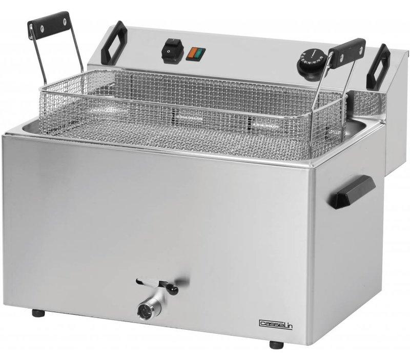 Casselin Friteuse | Elektrisch | Bakkerij Vis en Oliebollen | 16L | 400V | 9kW | 540x450x(h)370mm