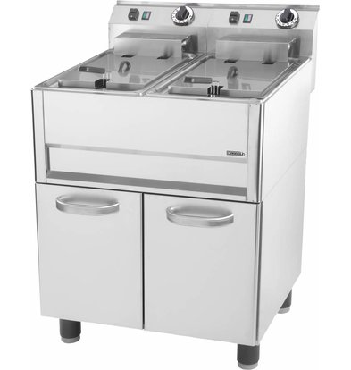 Casselin fryer | electric | 2 x 8 liters | 400V | 6 kW | With Mount | 640x600x (h) 860-920mm