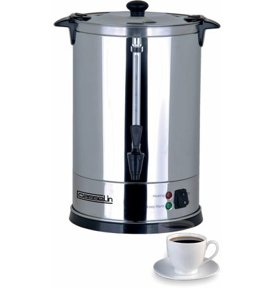 Casselin Percolator Jacketed | Stainless steel | No Filters Needed | Ø210x (H) 370mm | 48 Cups | 6.8 Liter