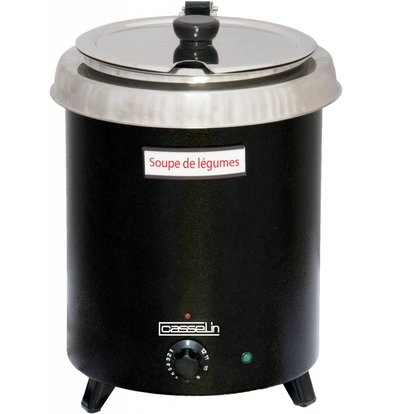 Casselin Electric Soup Kettle - Thermo Coating Stainless Steel Reservoir - 8.5 Liter