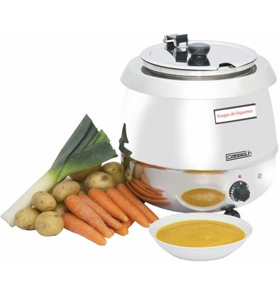 Casselin Electric Soup Kettle - Stainless steel - 9 Liter