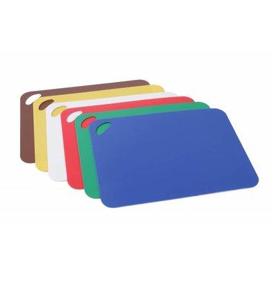 Hendi Snijplaten Set 6-delig | Wit, Rood, Groen, Blauw, Geel, Bruin | 290x380mm