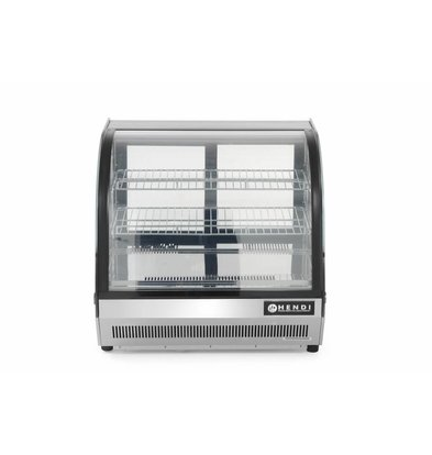 Hendi Pastry Refrigerated display case 110L   3 Shelves   3,8kW / 230V   700x557x670 (h) mm
