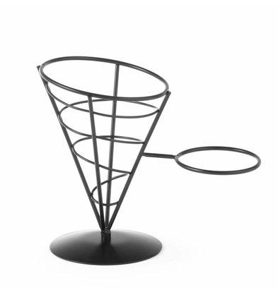 Hendi Friteszakhouder | Zwart Draadframe | 210x110x172(h)mm