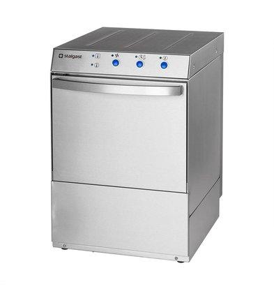XXLselect Glazenspoelmachine Horeca | 40x40cm | Naglans + Zeepdispenser + Afvoerpomp | 230V