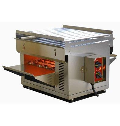 Diamond Quartz oven with conveyor belt - adjustable swivel and heating power - 47x72x (H) 385 - 3000W