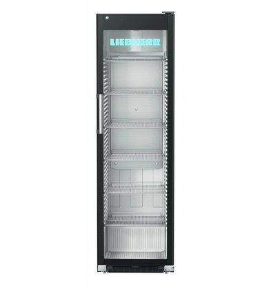 Liebherr Display Koelkast Zwart Staal met Glazen Deur | Liebherr | 449 Liter | FKDv 4523 | 600x696x(H)2027mm