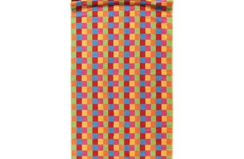 Cawö Saunalaken Life Style Karo 70x180 Multicolor Yellow