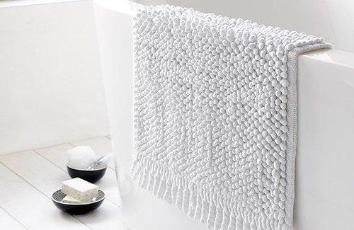 De Witte Lietaer Badematte Popple 50x80 White