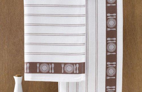 De Witte Lietaer Geschirrtuch BML 65x65 Brown