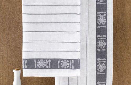 De Witte Lietaer Theedoek BML 65x65 Grey