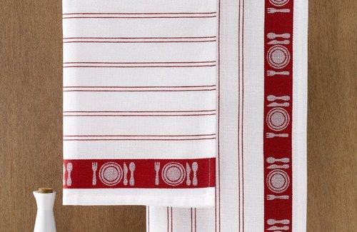 De Witte Lietaer Geschirrtuch BML 65x65 Red